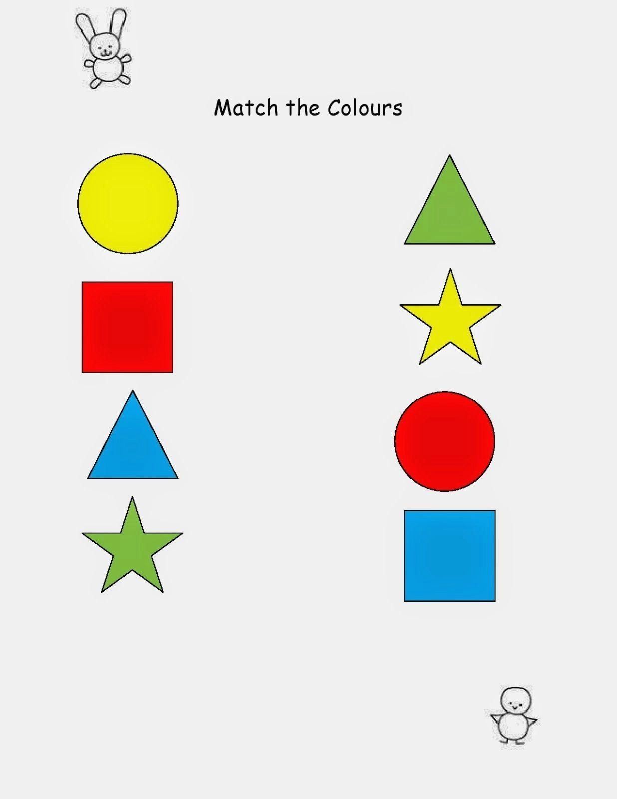 My Life As A Maa Match The Colours Worksheet