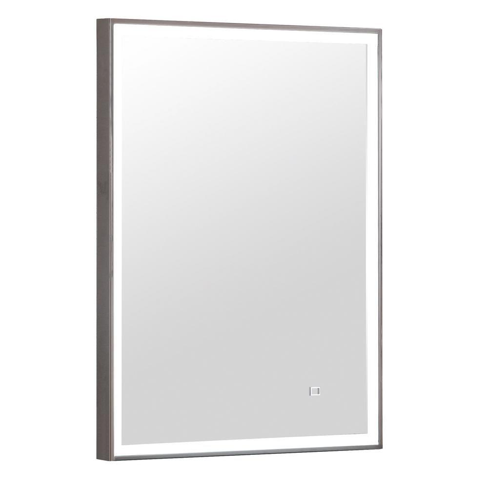 Avanity 22 In X 30 In Led Wall Mirror In Stainless Steel Frame