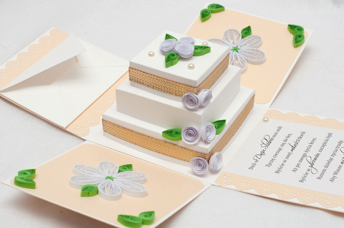 Wedding Exploding Box / Exploding Box W Kolorze Złotym