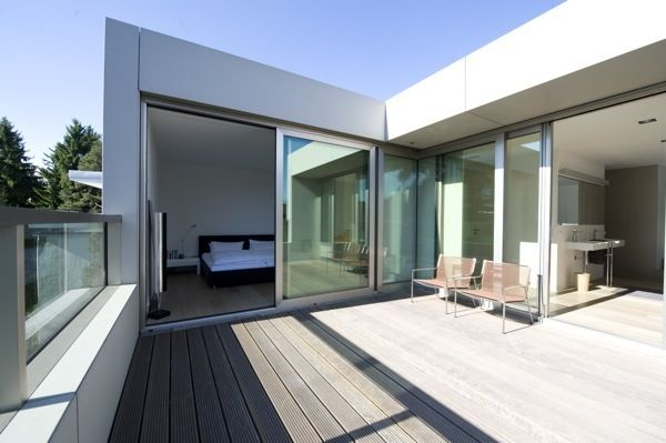 Open roof terrace roof terrace pinterest modern for Interior design rooftop terrace