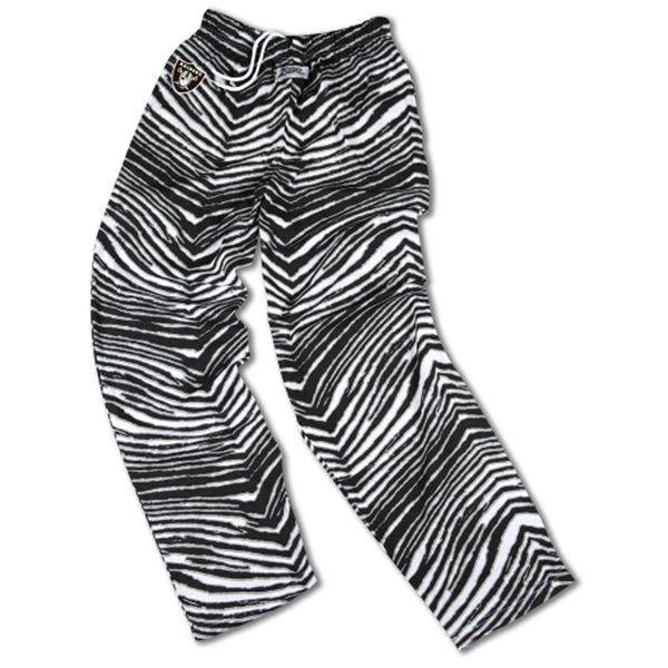 Oakland Raiders Lounge Draw String Pants Mens Black White Zebra NFL TEAM APPAREL
