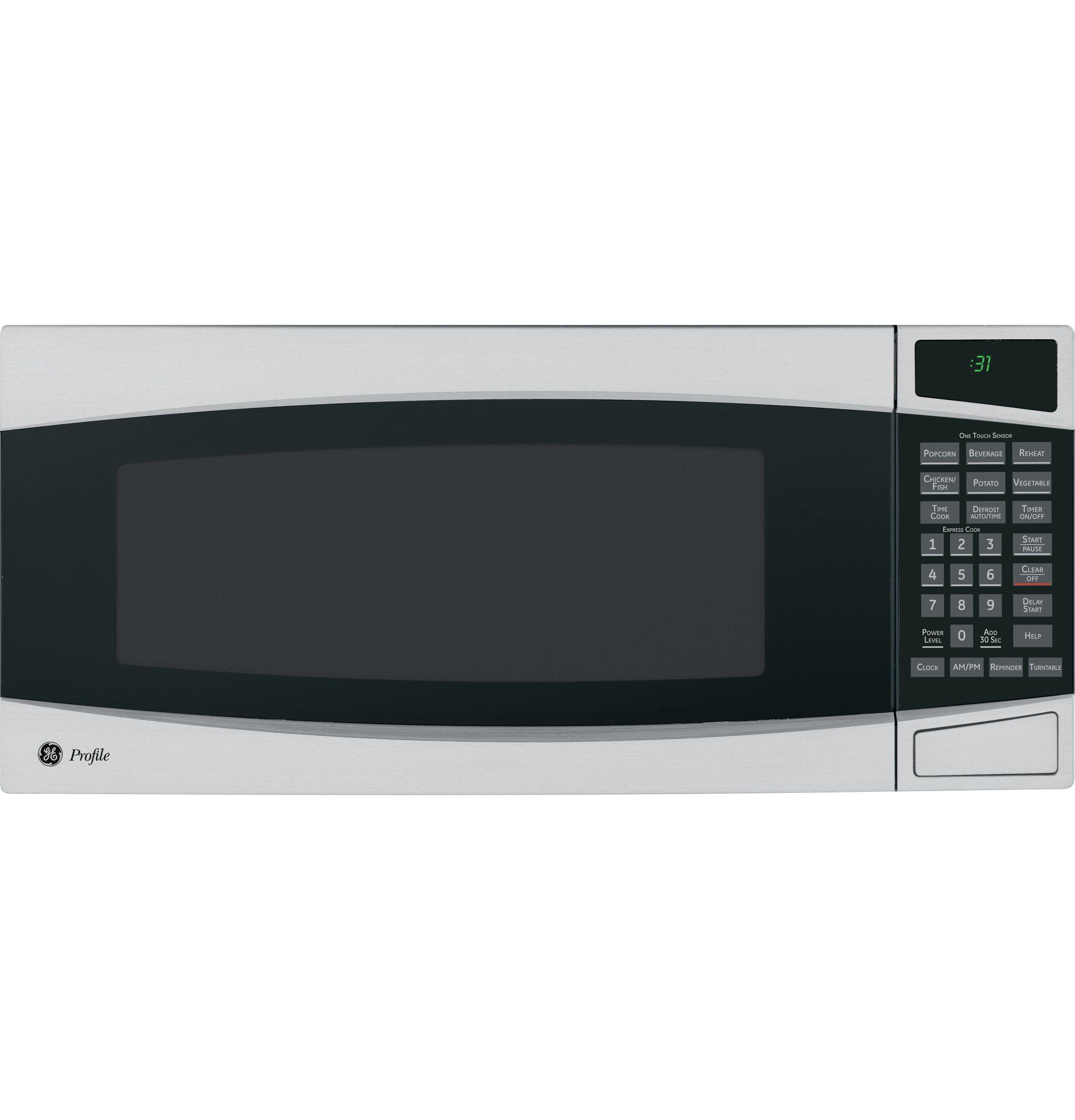 Pem31smss Ge Profile Series Spacemaker Ii 1 0 Cu Ft Microwave