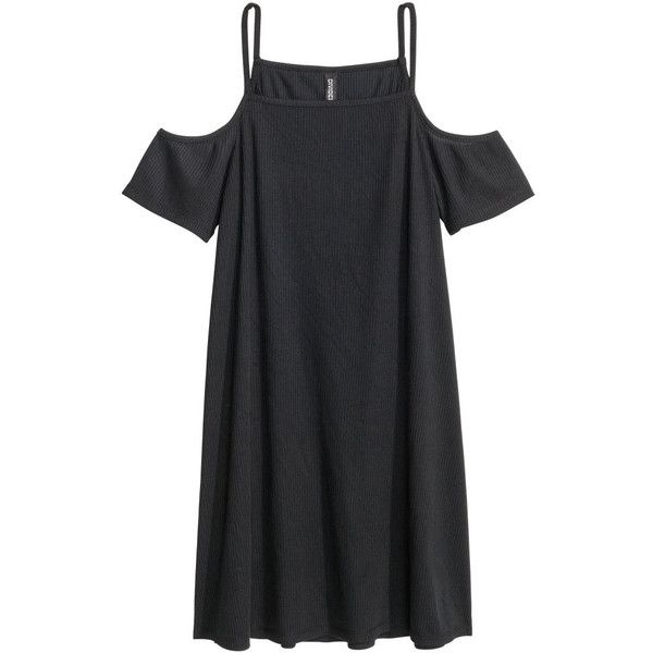 später bekannte Marke weltweit verkauft Cold-Shoulder-Kleid 9,99 ($9.99) ❤ liked on Polyvore ...
