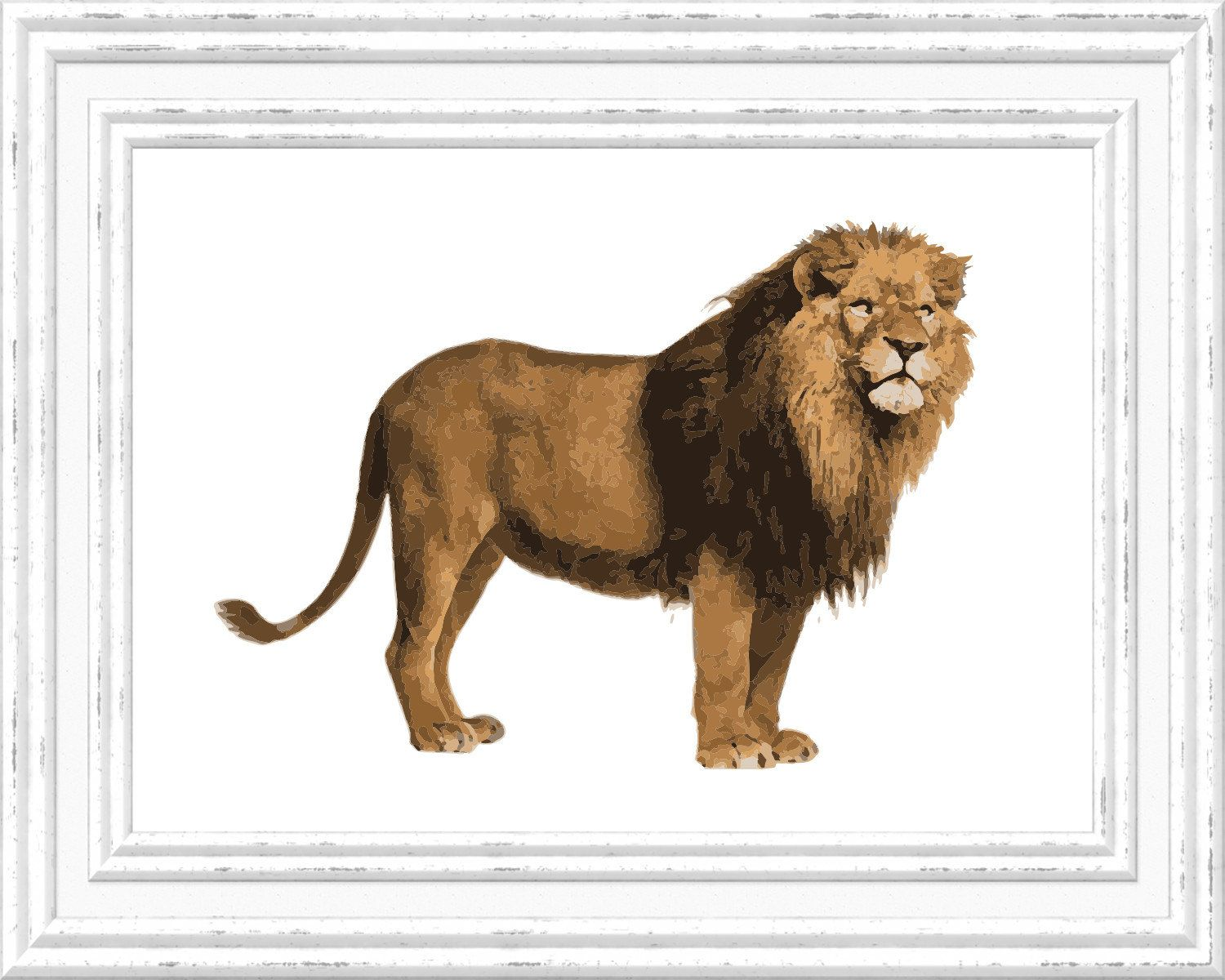 image relating to Printable Pictures of Lions titled Lion Print, Giraffe Wall Artwork, Lion Printable, Electronic Lion