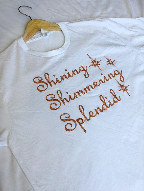 Shining Shimmering Splendid Copper Glitter Shirt / Aladdin Shirt / Jasmine Shirt / Disney Shirt / Women's Disney Shirt / A Whole New World