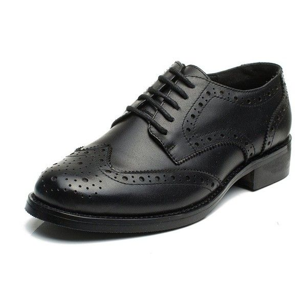 796596d5fb Womens Perforated Wingtip Lace-up Brogue Leather Flat Oxfords Oxford Shoes  Women - Black - CP12NRMPUJN - Women's Shoes, Oxfords #Oxfords #Women's # Shoes # # ...