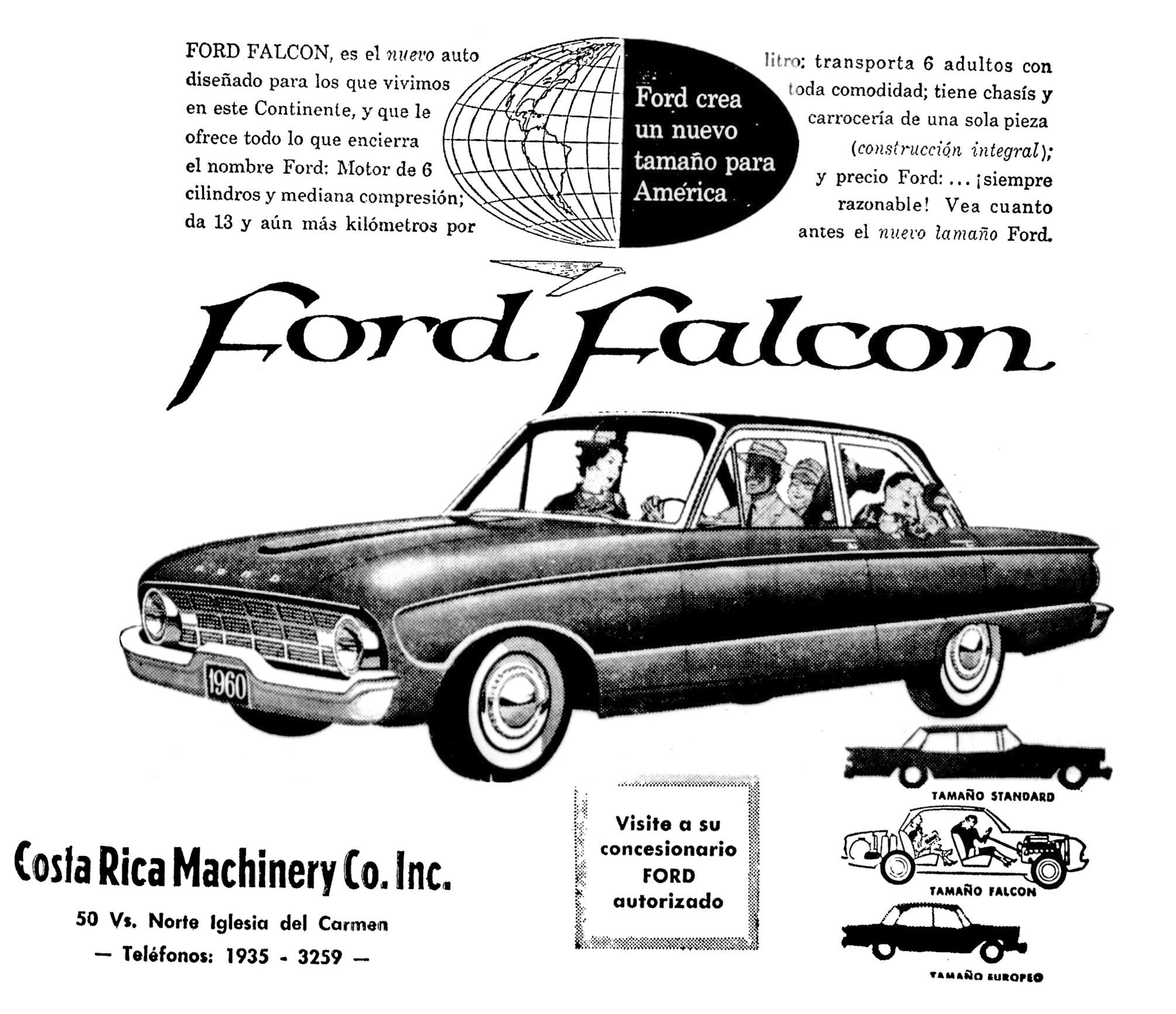 1960 Costa Rica Ford Falcon Chevrolet Malibu Car Ford