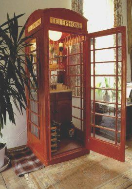 British Phone Booth Drinks Cabinet/Bar. A Classy Way To Serve Up The Best  For Your Guests.