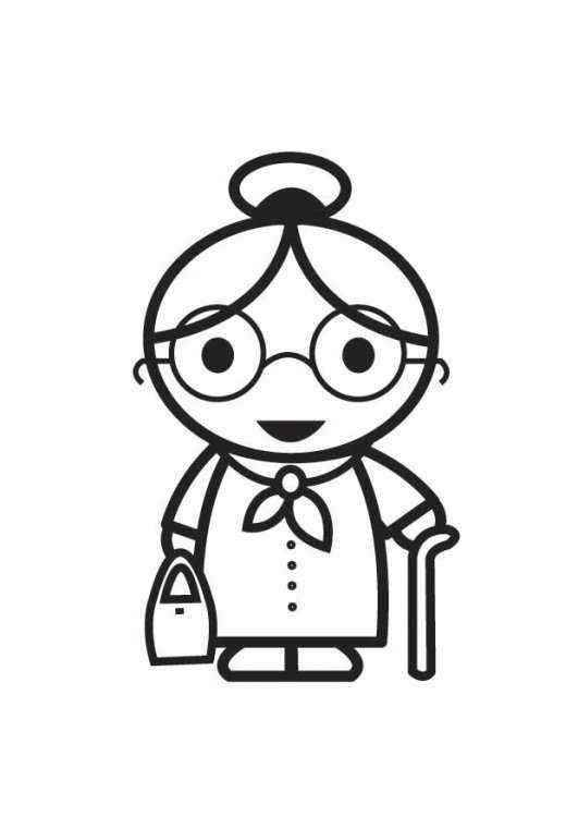 Resultado De Imagen Para Dibujo De Abuelitas Dibujos De Abuelitas Dibujo Abuela Paginas Para Colorear