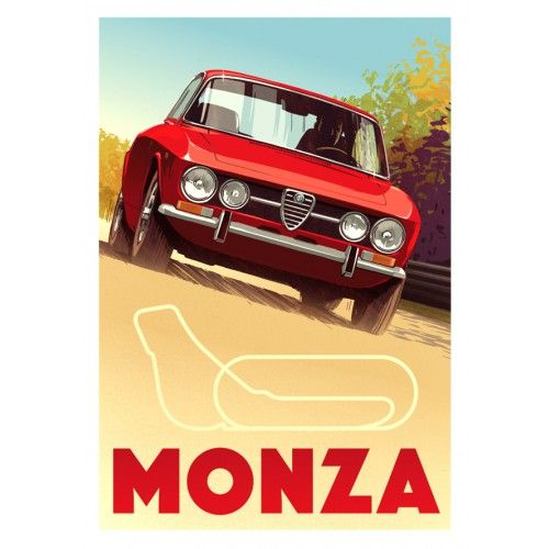 Alfa Romeo Gtv At Monza By Guy Allen Artwork Page And Cooper
