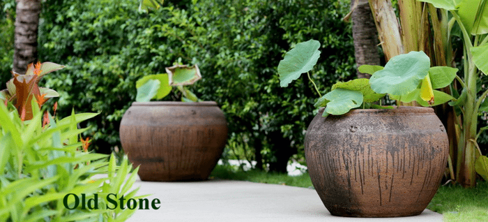Delicieux Extra Large Garden Pots | Old Stone Pots | Rustic Ironstone Planters |  Woodside Garden Centre