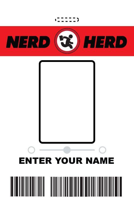 Myo Nerd Herd Id Badge  Chuck By RandomestfactorDeviantartCom
