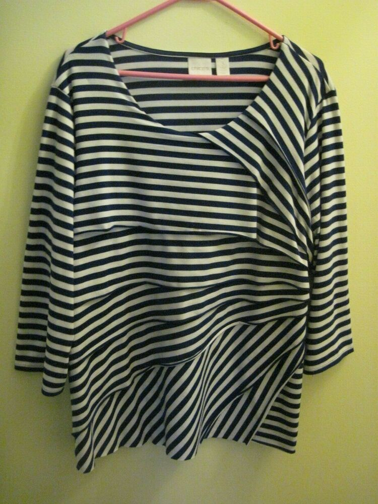 e32d005db5c WOMEN S LONG SLEEVE S WHITE   BLACK STRIP BLOUSE TOP  fashion  clothing   shoes  accessories  womensclothing  tops (ebay link)