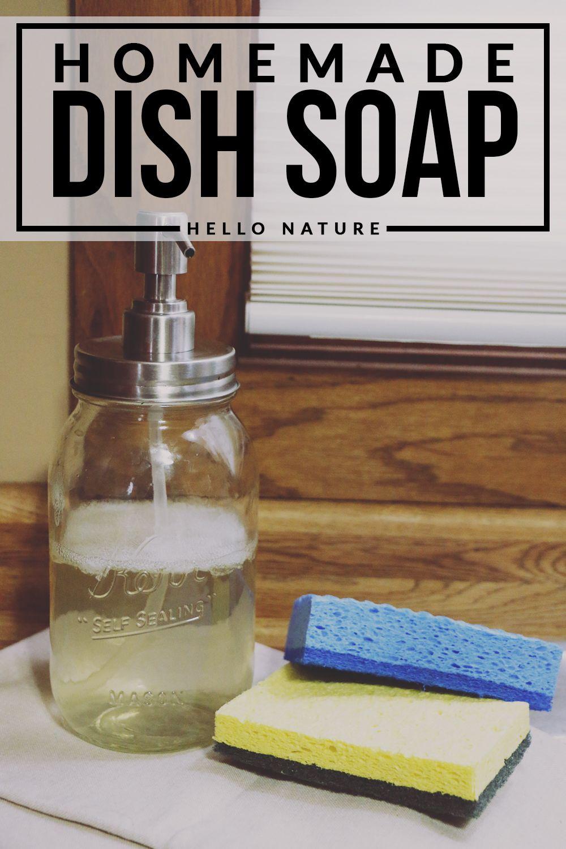 Homemade Dish Soap Recipe ★ Hello Nature Blog