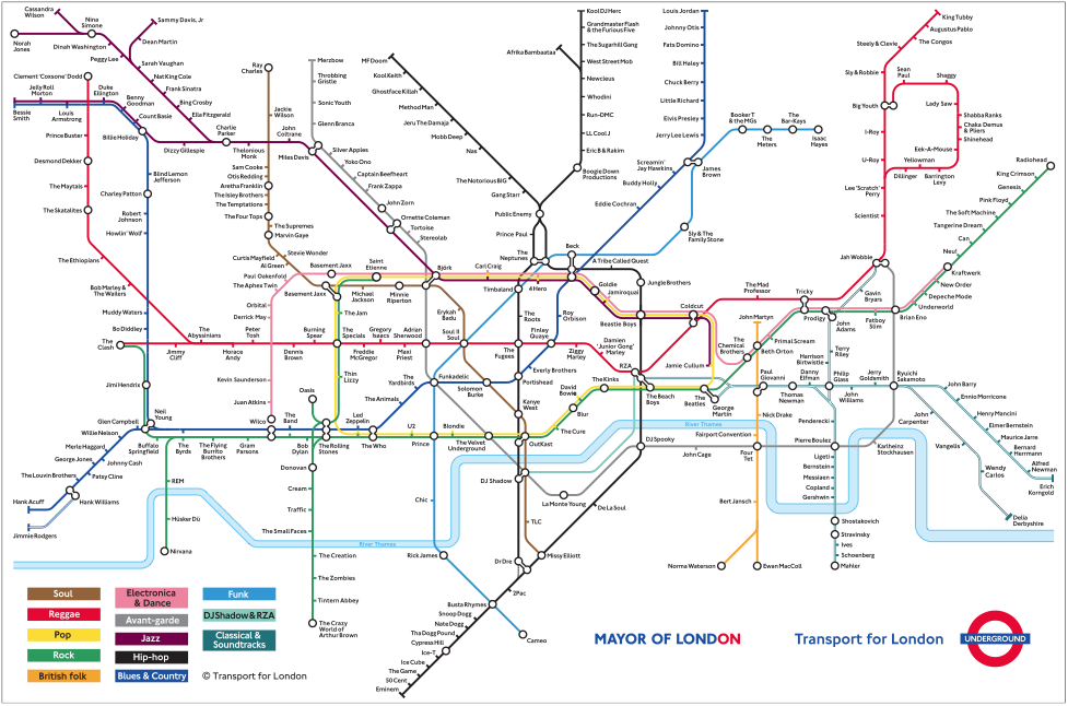 Creative Derivatives Of The London Tube Map London Underground