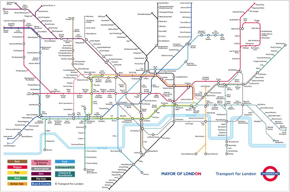 Creative Derivatives Of The London Tube Map London Underground