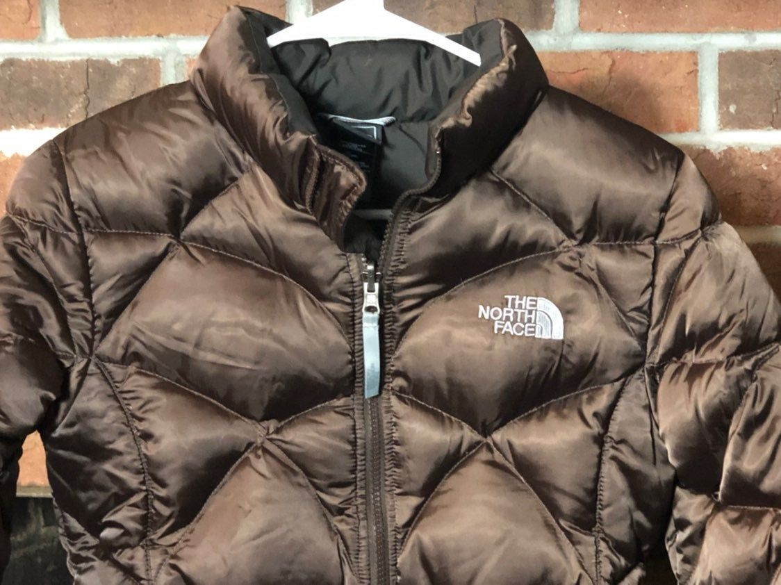 The North Face 550 Brown Goose Down Puffer Full Zip Jacket Girls Size Lg 14 16 Very Nice Used Condition Except The Insid Girls Jacket The North Face Jackets [ 842 x 1124 Pixel ]