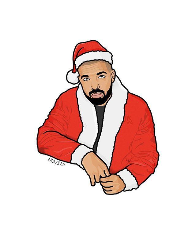 Happy Holidays @champagnepapi It's SantaSZN again #Drake #Graphics ...