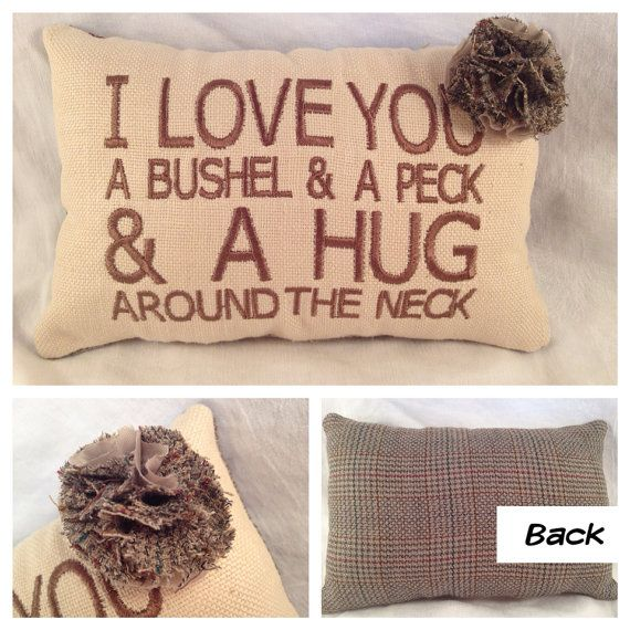 CUSTOM and upcycled EMBROIDERED Pillow for FATHERs by EmmaLemmaLou, $22.00