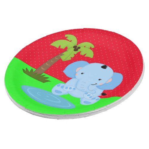 Cute jungle safari elephant paper plate | Wild One Birthday Party | Pinterest  sc 1 st  Pinterest & Cute jungle safari elephant paper plate | Wild One Birthday Party ...
