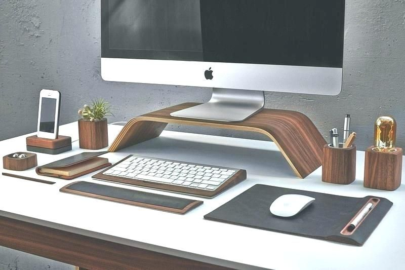 Concrete Desk Organizer Contemporary Desk Accessories Modern Desk Accessories Concrete Desk Organizer Modern Cool Desk Accessories Desk Design Workspace Design
