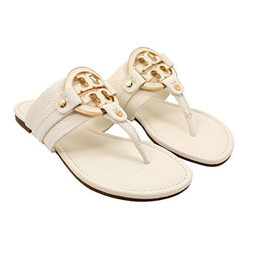 7f774052a150 TORY BURCH Tory Burch Amanda Flat Thong Tumbled Leather Sandals Bleach.   toryburch  shoes  shoes