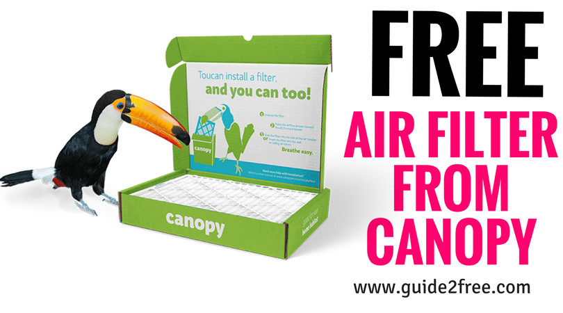FREE Air Filter from Canopy (With images) Air filter