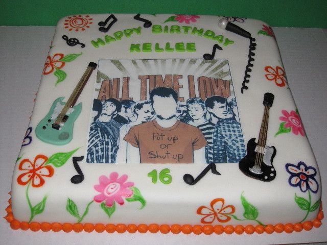 All Time Low Birthday Cake The House Of Cakes Pinterest