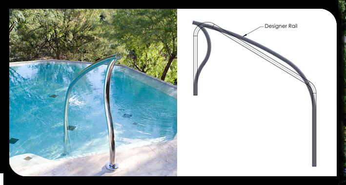 Pool Rails, Swimming Pool Ladders, Pool Handrails, Swimming ...