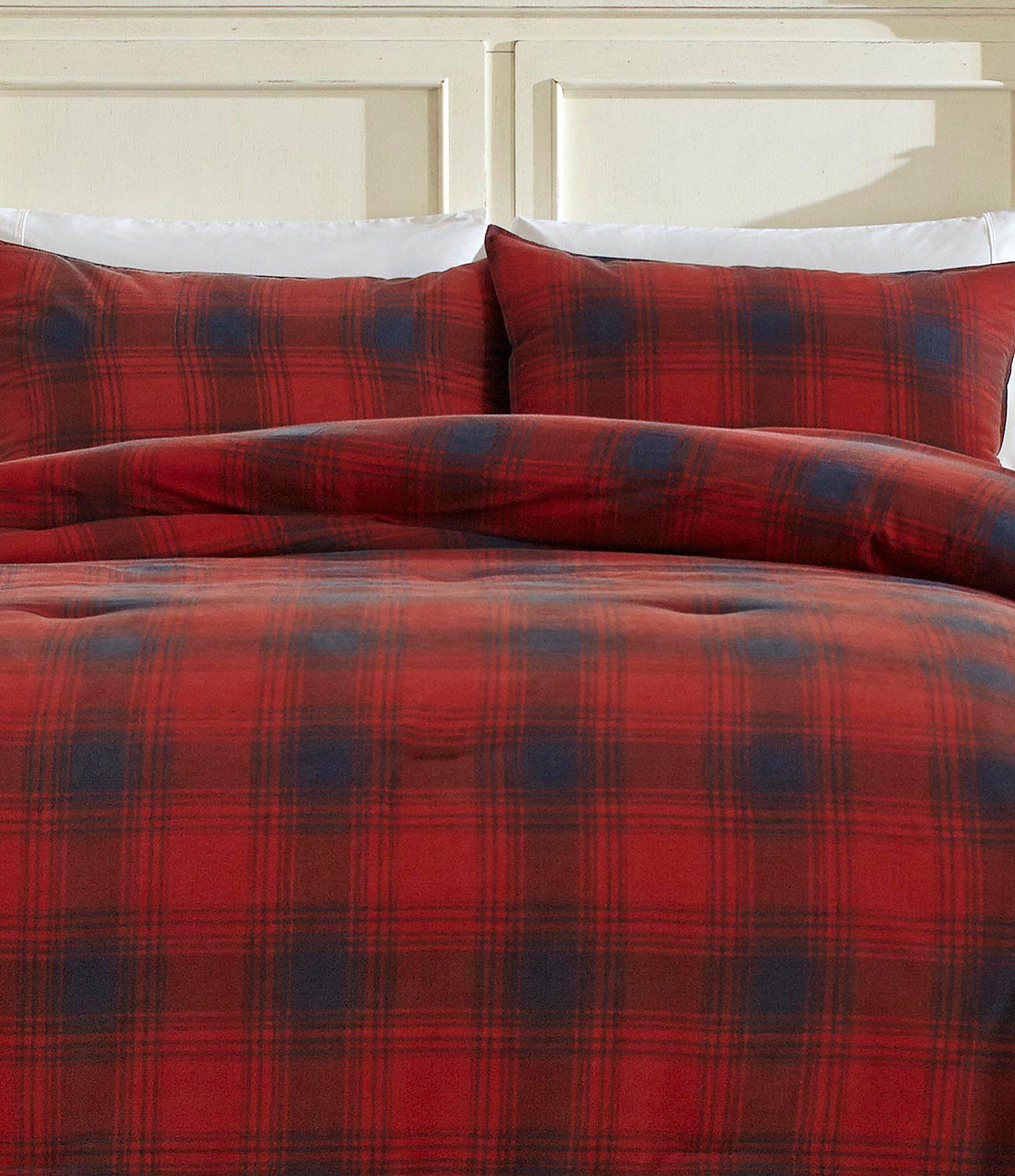 Nautica Brighton Mini Comforter Set - Red Twin/Twin Extra Long