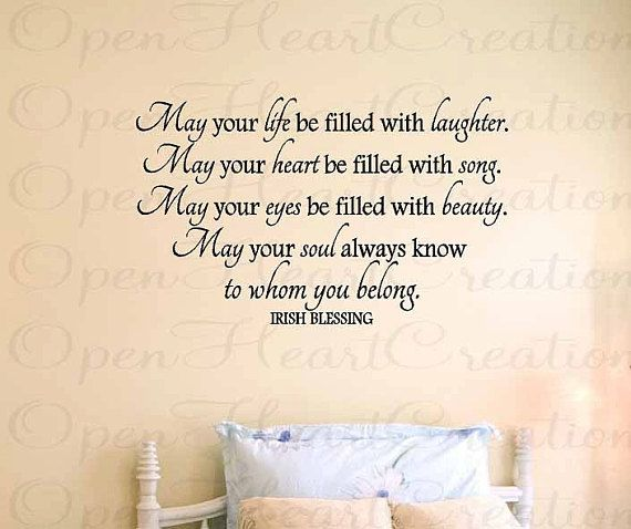 Wall Decals Irish Blessing Vinyl Wall Quote May Your Life Be