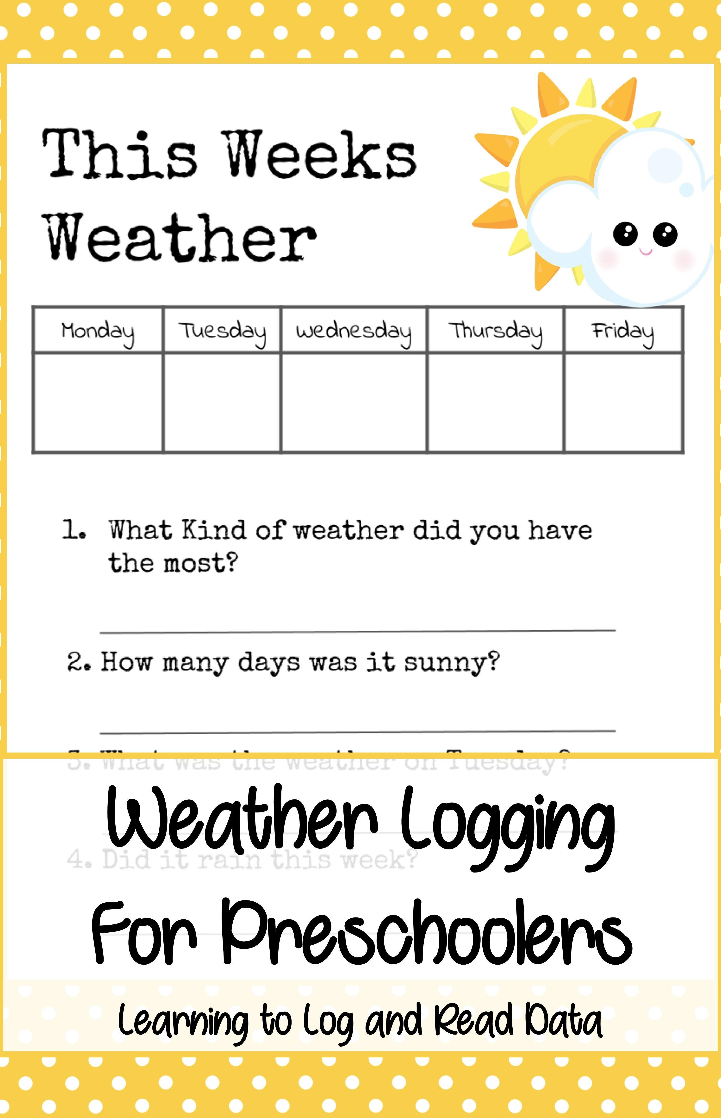 Weather Preschool Theme Pack