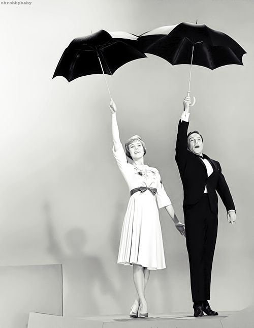 Julie Andrews and Gene Kelly