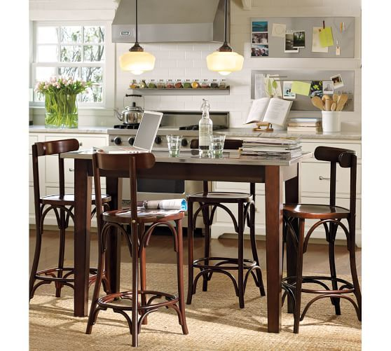 """Stainless Steel Magnetic Backsplash 14 X 36"""" Includes 5 Captivating Pottery Barn Dining Room Tables Design Decoration"""