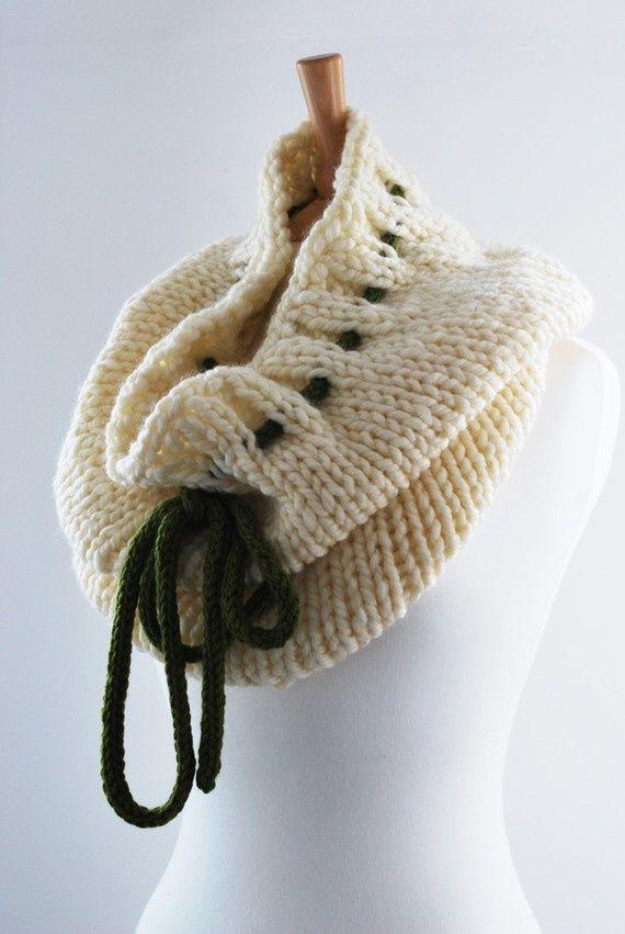 Bufanda con listón 3 - use satin ribbon instead of yarn for the tie ...