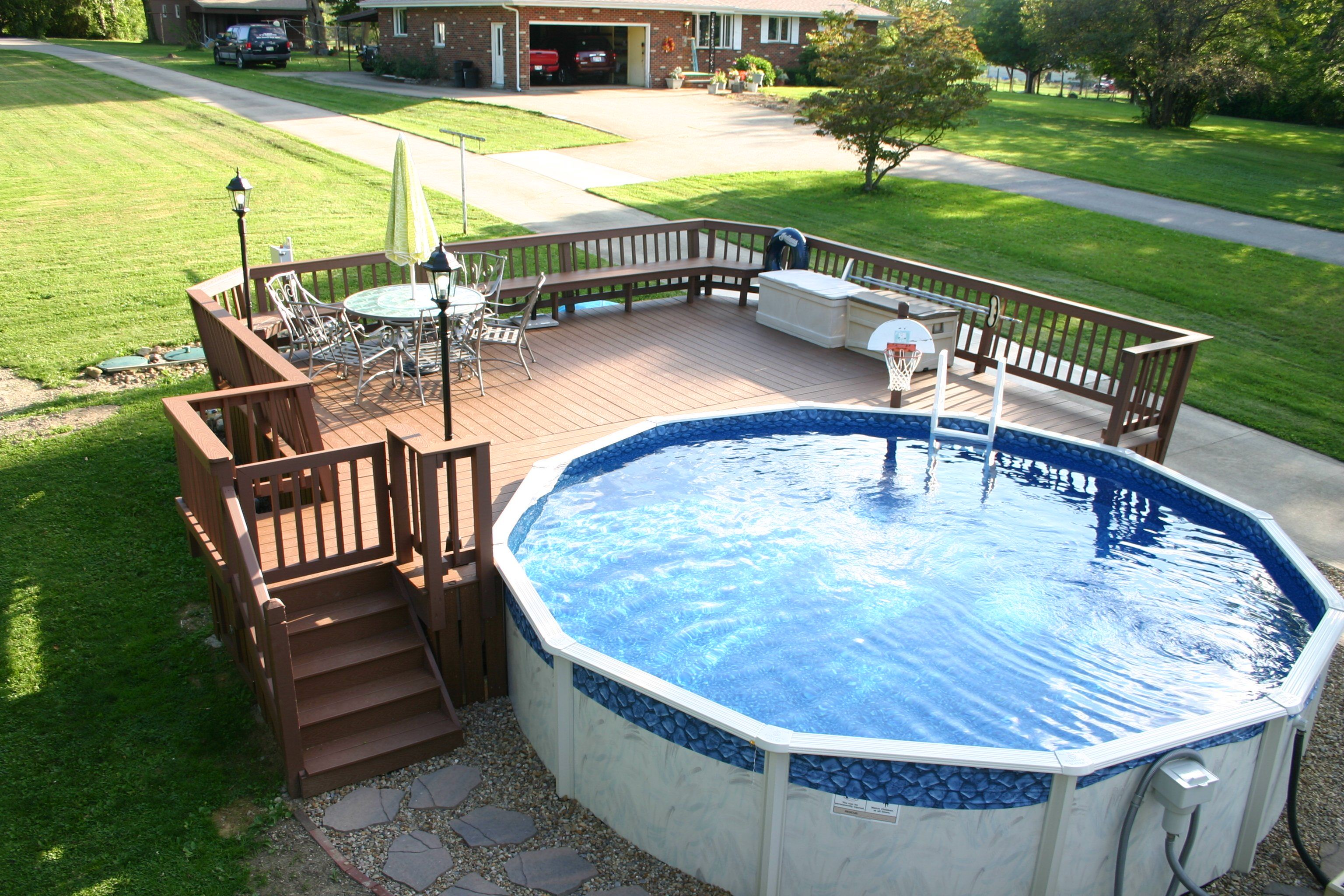 Swimming Pools Backyard Above Ground Pool, How To Install An Above Ground Oval Pool