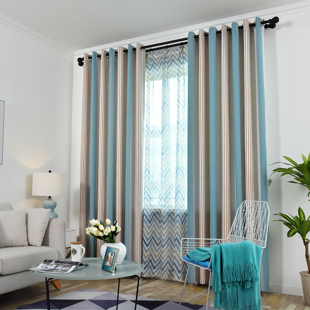 Vorhang bunte Streifen Design für Wohnzimmer   Vorhänge ...
