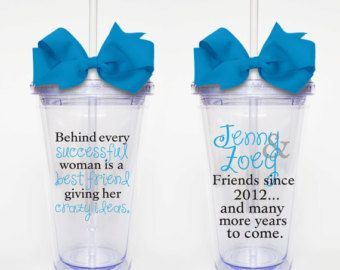 Behind Every Woman Best Friend Quote Acrylic Tumbler - Best vinyl for cups