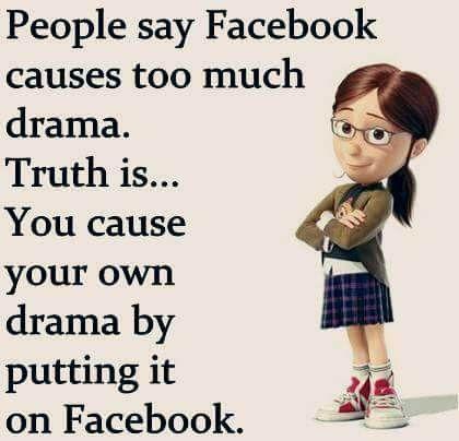 Facebook Drama Funny True Quotes Facebook Drama Sarcastic Quotes