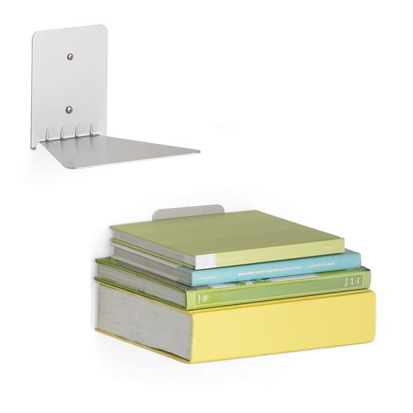 Conceal Book Shelves by Umbra®  I have a couple up already and plan to buy a few more.