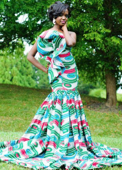 Modele robe pagne ceremonie
