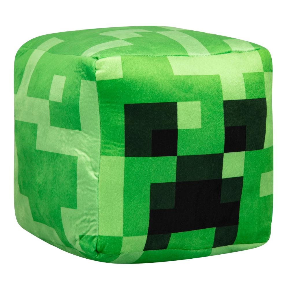 MineCraft Kids Plush Creeper Green Black Pillow Plush Gamer To Go Buddy NEW