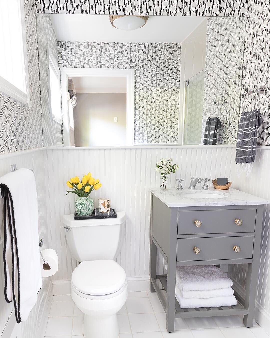 A Simple Yet Elegant Powder Room Lovely Home Drivenbydecor