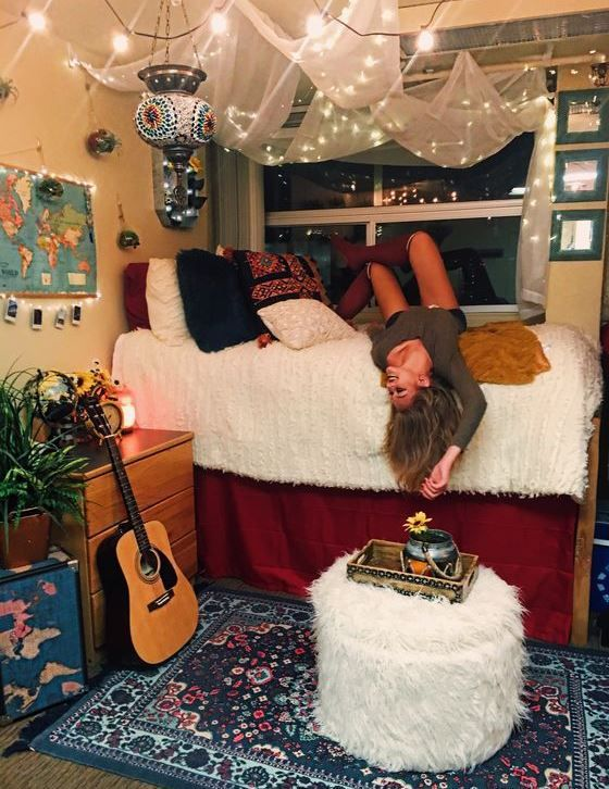 50 Cute Dorm Room Ideas That You Need To Copy Ideas para - decoracion recamara vintage