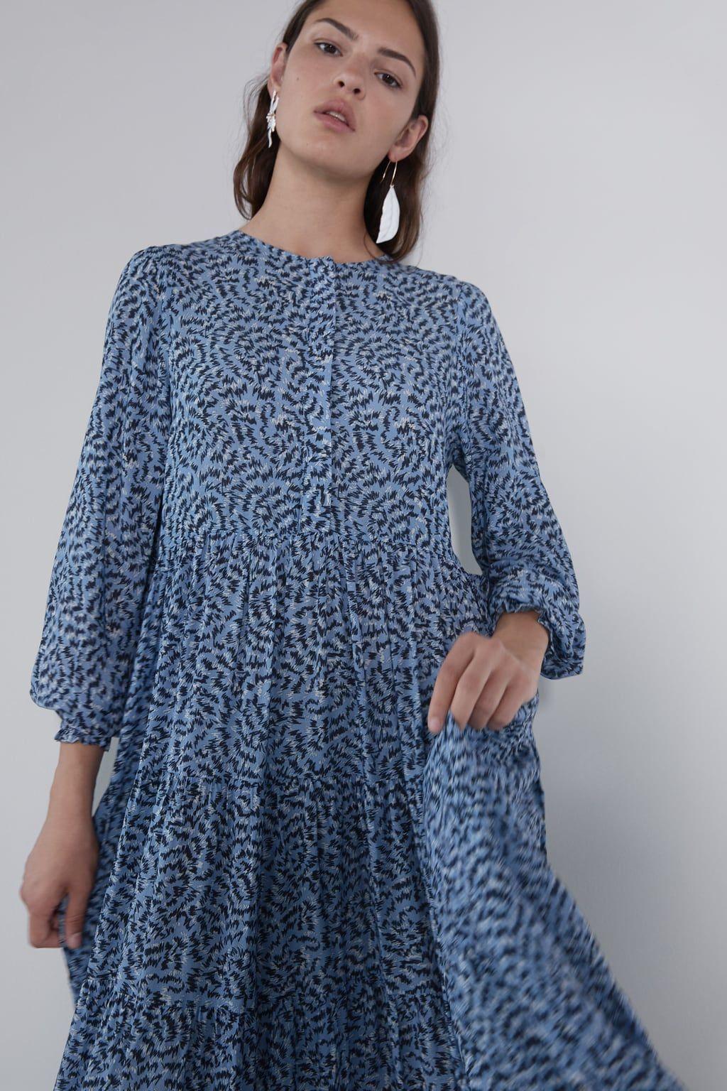 LONG PRINTED DRESS-View all-DRESSES-WOMAN  ZARA United Kingdom