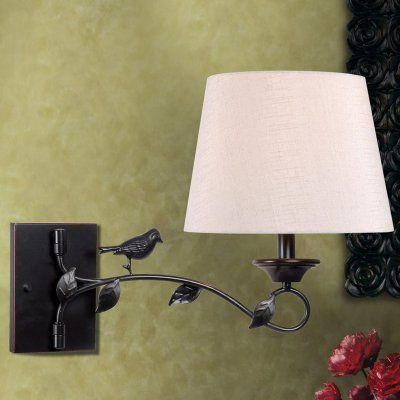 Kenroy home birdsong 32611orb swing arm wall lamp 32611orb kf2786 1