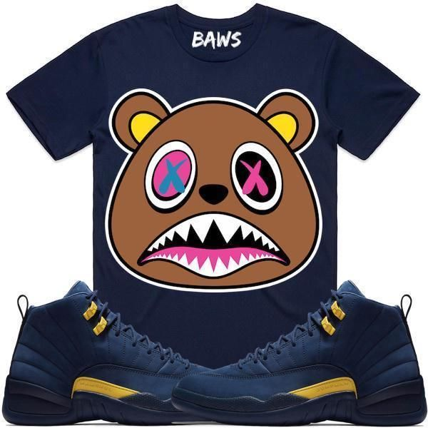 new style d503e 63720 Jordan 12 Michigan Shirt by BAWS sneaker tee shirts to match is available  on our online store.