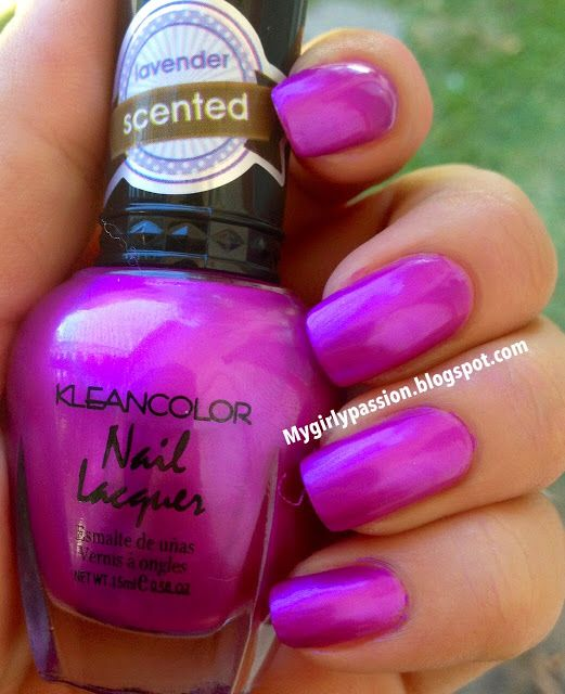 Kleancolor scented nail 324) lavender song | My kleancolor polishes ...