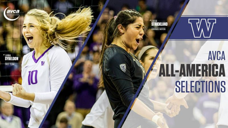 Sybeldon And Strickland Named All Americans Female Volleyball Players Professional Volleyball Players Volleyball News