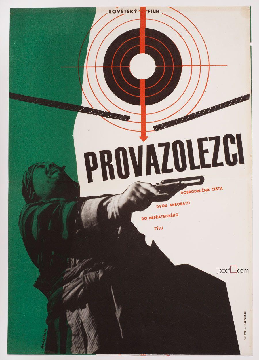 Vintage 1960s poster designed for Russian drama Rope Walkers. Poster design: František Zálešák, Czechoslovkia, 1966. #movieposter #1960s #poster #graphicdesign